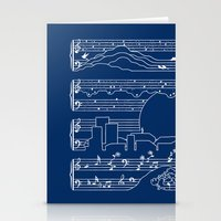 The Moonlight Sonata Blu… Stationery Cards