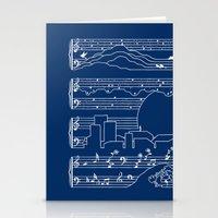 The Moonlight Sonata Blue Stationery Cards