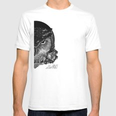 Night Owl Mens Fitted Tee SMALL White
