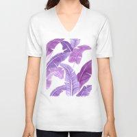Purple Palms Unisex V-Neck