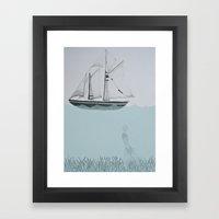 Went On A Ship Of Paper Framed Art Print