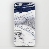 Snowy Night in Japan iPhone & iPod Skin