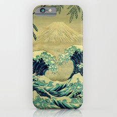 The Great Blue Embrace at Yama iPhone 6 Slim Case