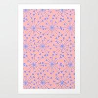 Luv Burst Art Print