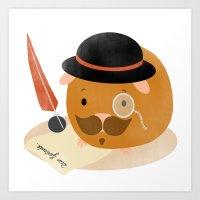 Guinea Pig Portrait 2 Art Print