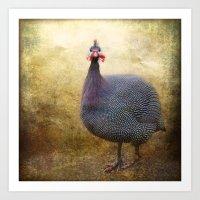 I Love Guinea Fowl! Art Print