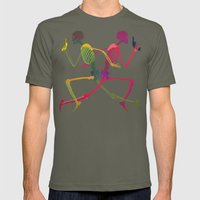 Running Skeleton With Ba… Mens Fitted Tee Lieutenant SMALL