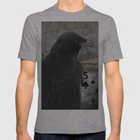 Five Of Spades Mens Fitted Tee Athletic Grey SMALL