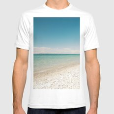 Seaside Manitou Island Mens Fitted Tee SMALL White