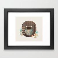 Resort Type - Letter O Framed Art Print