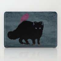 iPad Case featuring Cat and bird friends! by gwenola de muralt