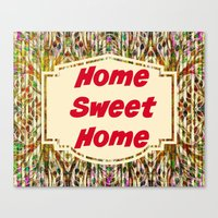 Stained Glass Home Sweet Home  Canvas Print