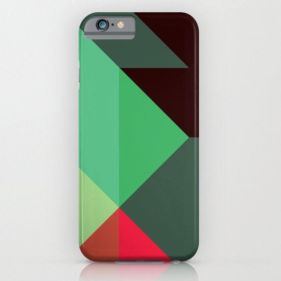 Green & Red Triangles iPhone & iPod Case