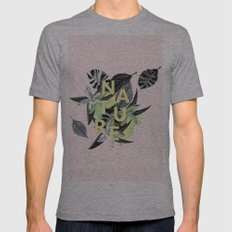 Leaves and Flowers I Mens Fitted Tee Athletic Grey SMALL