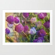 Lavender Flora  Art Print