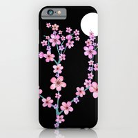 iPhone & iPod Case featuring Cherry blossoms at night by Juliagrifol designs