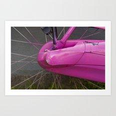 Amsterdam in Pink Art Print