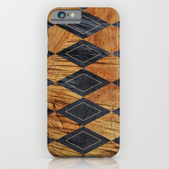Wood cut abstraction iPhone & iPod Case