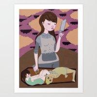 Cemetery Wrestling Madne… Art Print