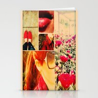 Painting the Town Red Stationery Cards