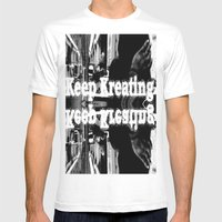Keep Kreating Mens Fitted Tee White SMALL