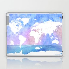 World map, Ocean, boat, whale Laptop & iPad Skin