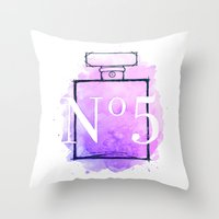 Perfume No.5 Throw Pillow