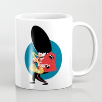 Soldier playing the saxophone Mug