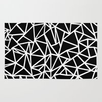 Abstract Outline Thick W… Rug