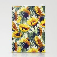 sun Stationery Cards featuring Sunflowers Forever by micklyn