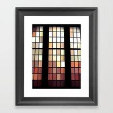 Colored Glass Framed Art Print
