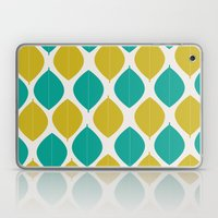 TEAL AND GREEN LEAVES Laptop & iPad Skin