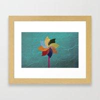 Toy Windmill Framed Art Print