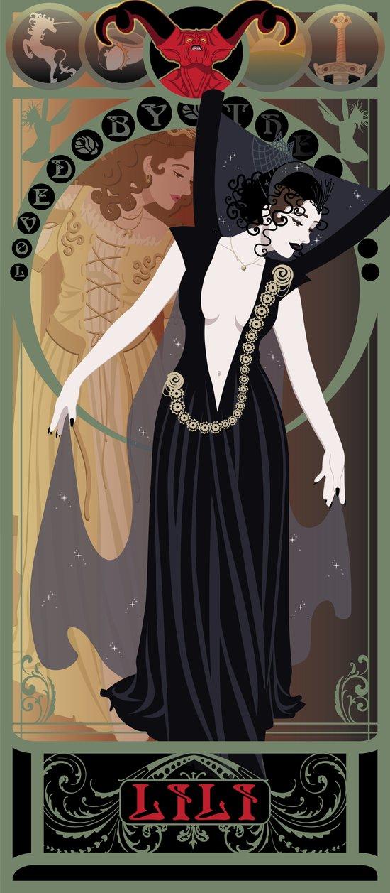 Dark Lili Nouveau - Legend Canvas Print