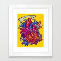 BUSTED HEART Framed Art Print