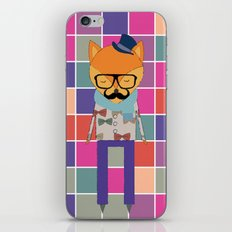 Hipster Fox iPhone & iPod Skin