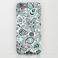 Aqua Paisley iPhone 6s Slim Case