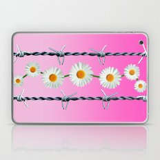 Barbed Wire and Daisies Laptop & iPad Skin