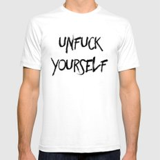 Unfuck Yourself SMALL Mens Fitted Tee White