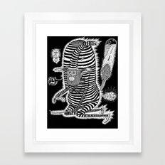 Escape from Mushroom Island Framed Art Print