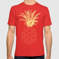 y-hello pineapple Mens Fitted Tee Red SMALL