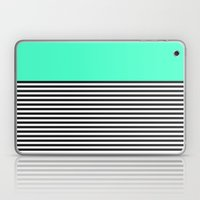 STRIPE COLORBLOCK {MINT/TEAL} Laptop & iPad Skin