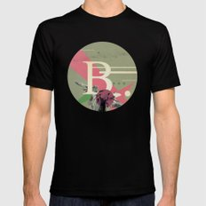 (Times) B Mens Fitted Tee Black SMALL