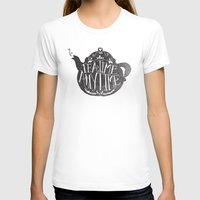 TEA TIME. ANY TIME. Womens Fitted Tee White SMALL