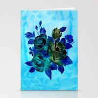Vintage Blue Flowers  Stationery Cards