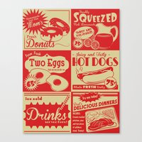 Retro Kitchen Advertising (no. 1) Canvas Print