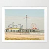 Pleasure Pier Galveston … Art Print