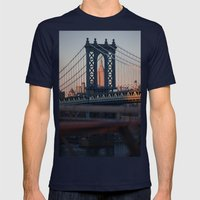 Crossroads  Mens Fitted Tee Navy SMALL