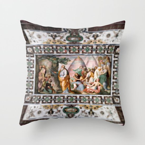 The Italian Ceiling Throw Pillow