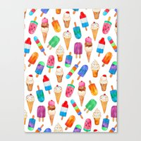Summer Pops and Ice Cream Dreams Canvas Print